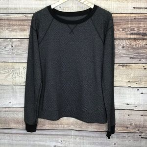Lucy Sweatshirt Heathered Black Lg 0260